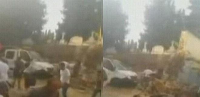 Şişli'de mezarlık duvarı yıkıldı