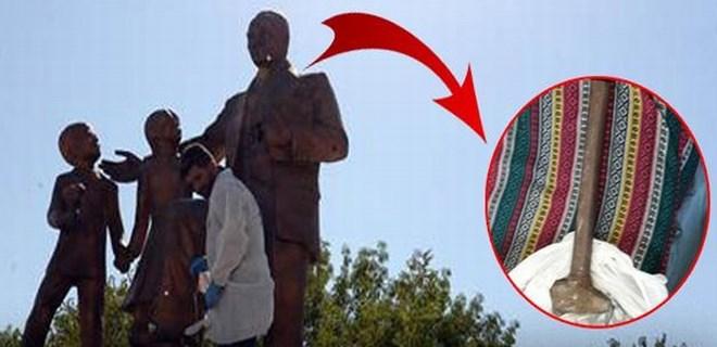 Diyarbakır Atatürk Anıtı'na çekiçli saldırı