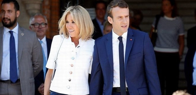 First Lady Brigitte Macron Dan Olay Sozler