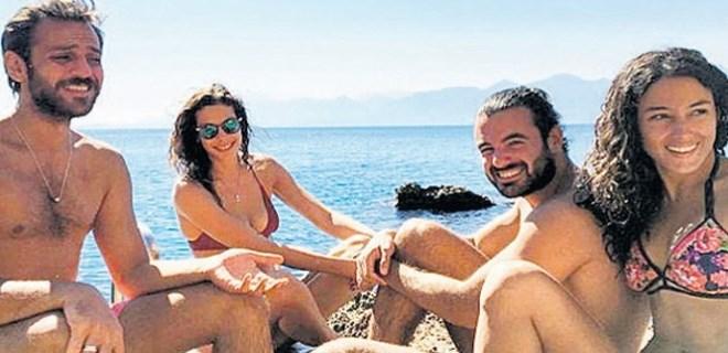 Erkan - Cansu çiftinden Antalya'da ön balayı!