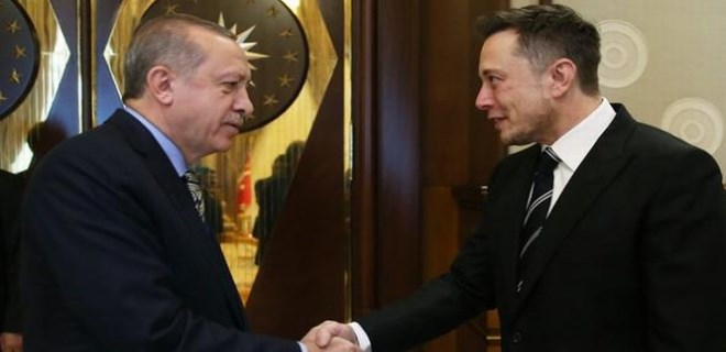 Cumhurbaşkanı Erdoğan ile Elon Musk görüştü