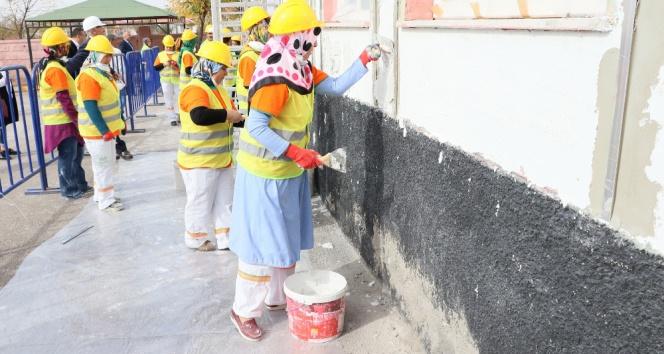 Kadınlar inşaat işine el attı
