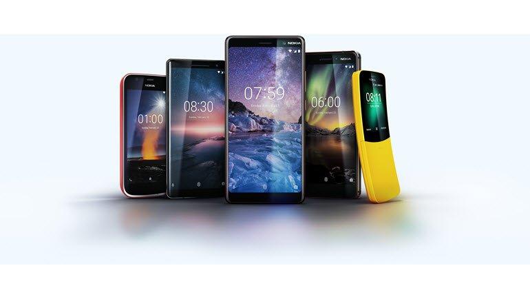 5 yeni Nokia telefon tanıtıldı