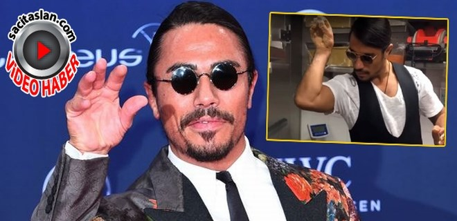 Nusret tuzlama hareketini ünlü aktristen aşırmış!