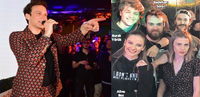 Alina Boz, neşeli partide eski aşklarıyla eğlendi