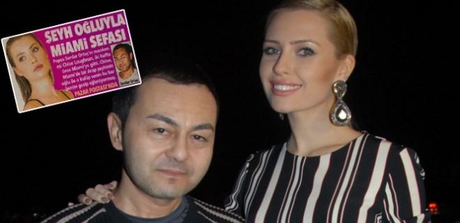 Serdar Ortaç'ın karısı Miami'de Şeyh oğluyla geziyor!