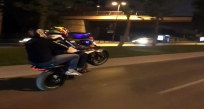 Motosikletli trafik magandası yeniden sahnede