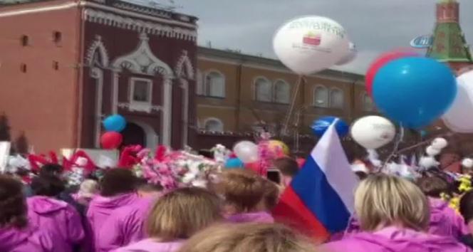Rusyada 1 Mayıs kutlamaları