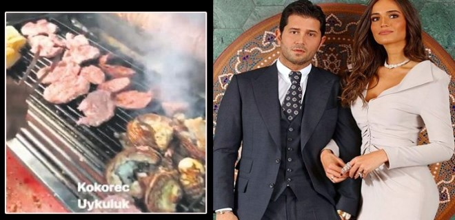 Açalya Samyeli Danoğlu ve eşi İbiza'da kokoreç yedi