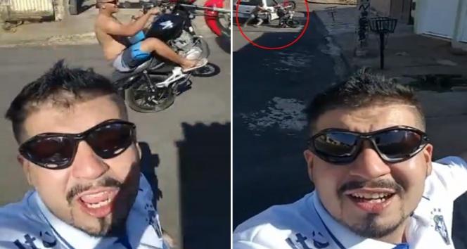 Motosikletli şov kötü bitti