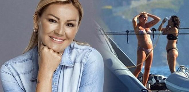 Pınar Altuğ lüksün keyfini sürüyor