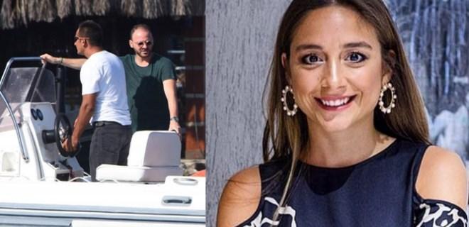 Mina Başaran'ın nişanlısı Bodrum'da objektiflere yansıdı