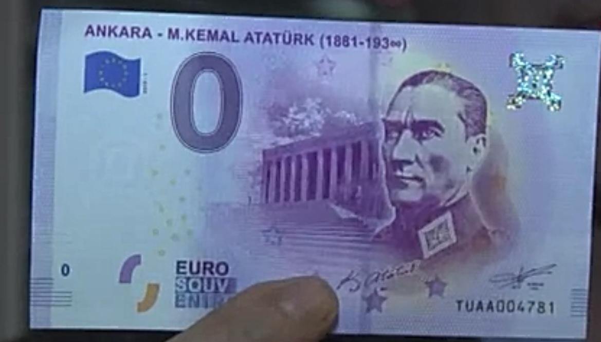 Avrupa Merkez Bankası Atatürk Portreli Euro Bastı
