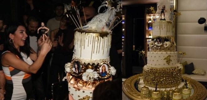 Hande Yener'e görkemli doğum günü kutlaması