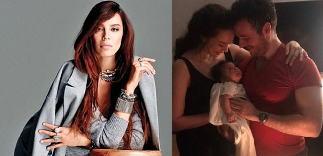 Azra Akın'dan bebeğiyle ilk fotoğraf