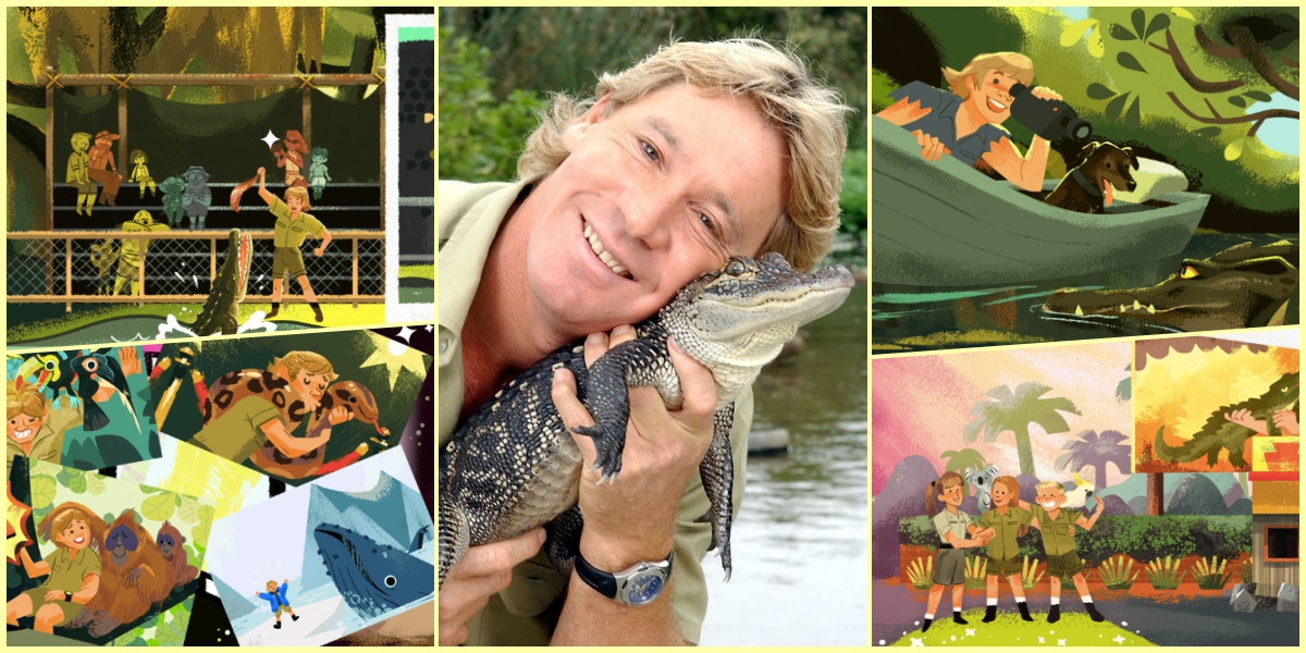Bu Dünyadan Bir 'Timsah Avcısı' Geçti: Steve Irwin 57. Doğum Gününde Doodle Oldu!