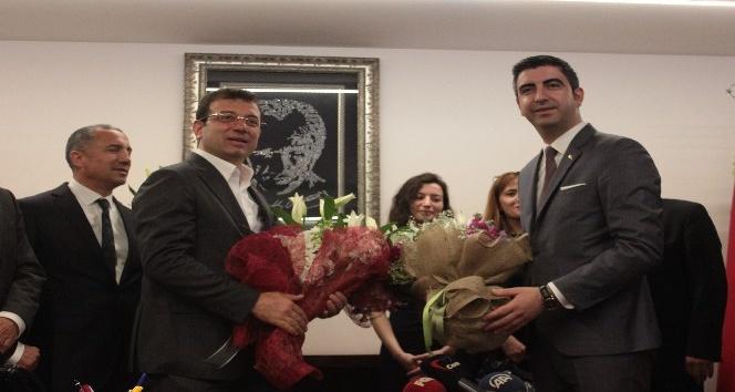 İmamoğlu'ndan Kartal Belediye Başkanı Gökhan Yüksel'e tebrik ziyareti