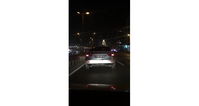 (Özel) E-5'te terör estiren trafik magandası kamerada