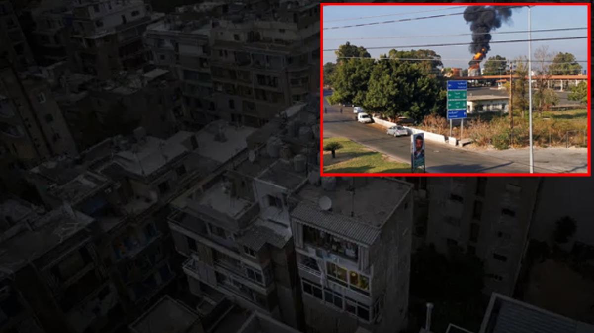 3 günlük elektriği kalan Lübnan'da bir felaket daha! Zahrani Petrol Tesisleri'nde yangın çıktı