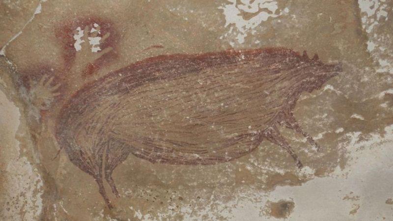 45 Bin Yıllık! Tarihin En Eski Hayvan Resmi Keşfedildi