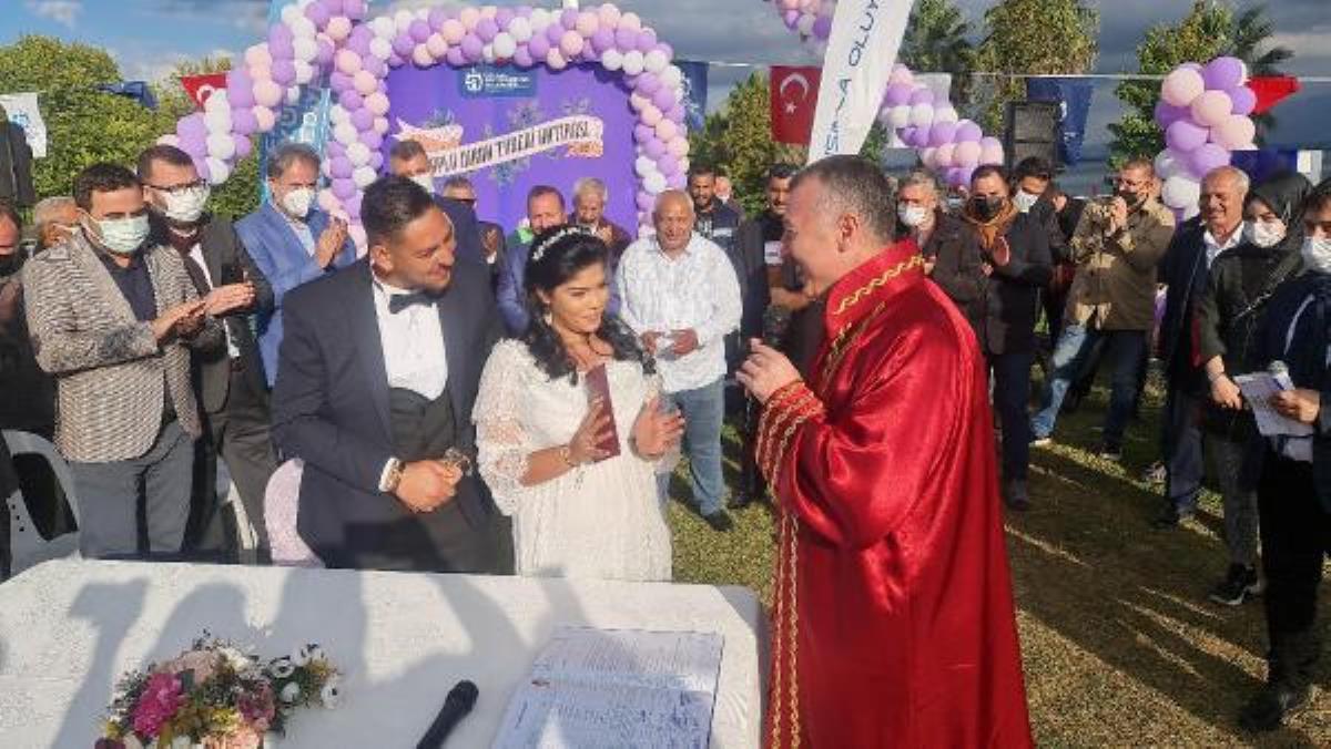46 Roman çiftin toplu nikah töreni yapıldı