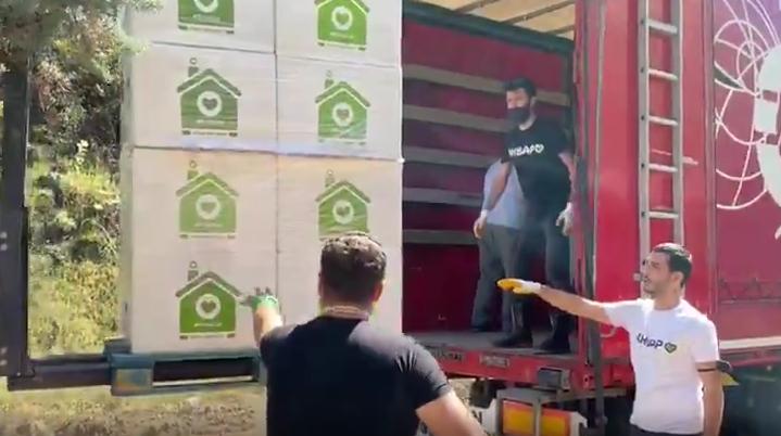 AHBAP, Giresun'da: İlk Etapta 1000 Aileye Destek Olacak 2 Aylık Temel İhtiyaç Malzemeleri Gönderildi