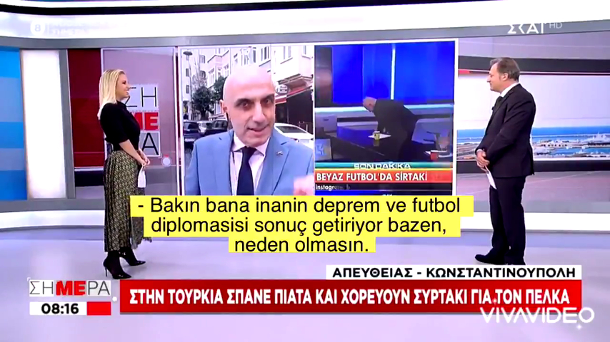 Ahmet Çakar'ın Fenerbahçeli Pelkas İçin Canlı Yayında Sirtaki Yapması Yunan Medyasının Gündeminde
