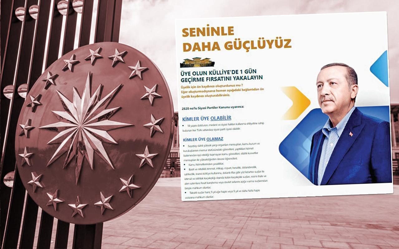 AKP'li İlçe Teşkilatından Kampanya: Partiye Üye Olun, Külliye'de 1 Gün Geçirin