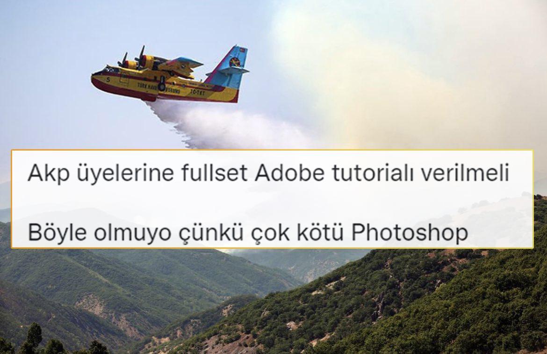 AKP Tunceli İl Başkanının Photoshop'lu Yangın Paylaşımı Sosyal Medyanın Gündeminde
