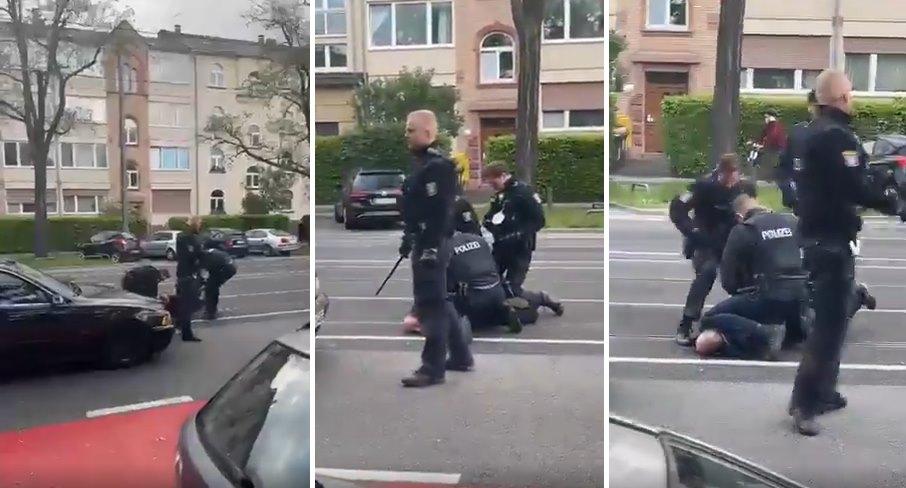 Alman Polisinin Türk Vatandaşa Şiddet Uyguladığı Görüntüler Tepki Çekti