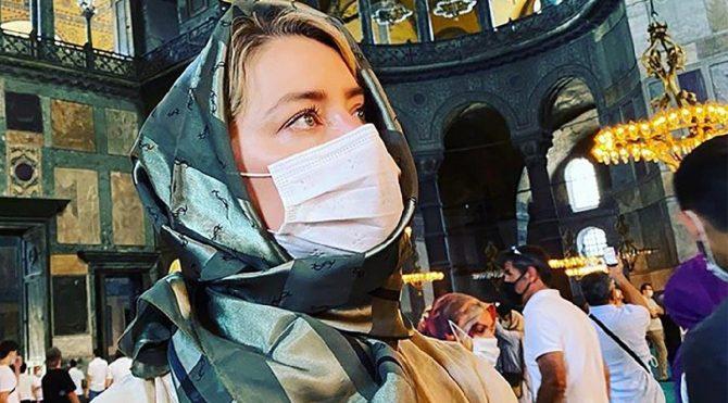 Amber Heard'den dikkat çeken Ayasofya yorumu