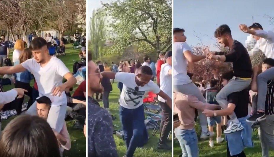 Ankara'da Onlarca Genç Seğmenler Parkı'nda Erik Dalı Eşliğinde Eğlendi