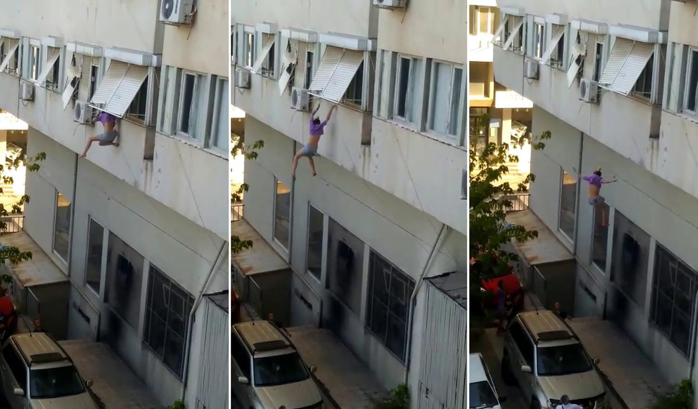 Antalya'da Rehin Alındığını İddia Eden Genç Kadın Pencereden Atladı