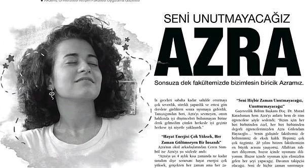 Arkadaşları Katledilen Azra'nın Haberini Gözyaşlarıyla Yazdı