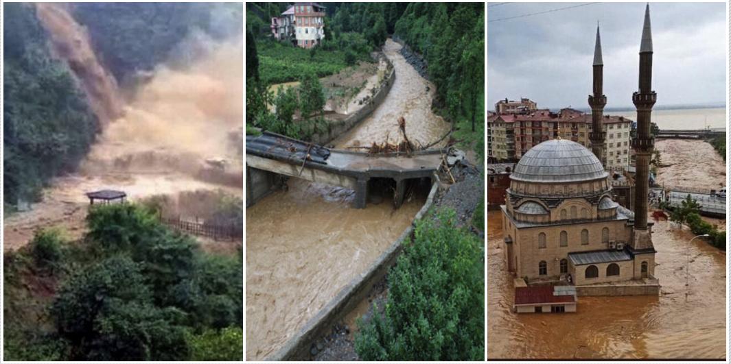 Artvin Yusufeli Barajı'nda 4 Kişinin Yaşamını Yitirmesine Neden Olan İçler Acısı Sel Felaketinden Görüntüler