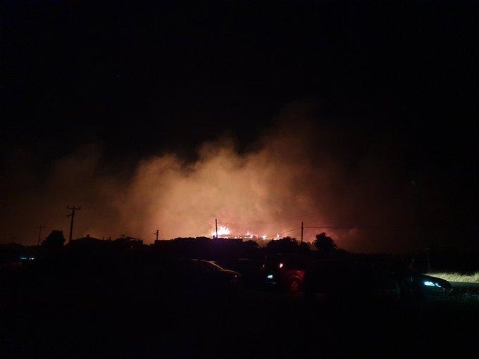 Ayvalık Şeytan Sofrası'nda Orman Yangını Çıktı: Bölgedeki Evler Tahliye Edildi