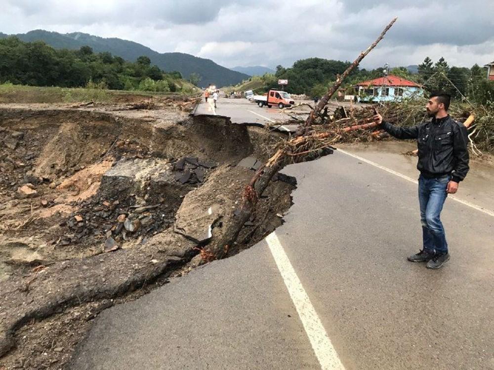 Bartın'da Şiddetli Yağış Sel ve Heyelana Neden Oldu