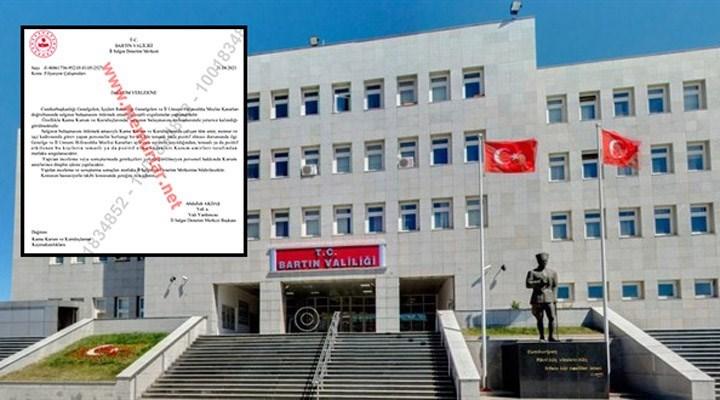 Bartın Valiliği 'Koronavirüse Yakalananlara Soruşturma Açma' Kararını Geri Çekti