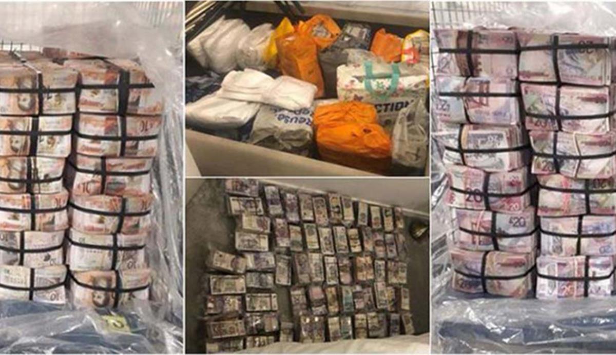 Baskın yapan polisler bile gözlerine inanamadı! Evden balyalar halinde 7.6 milyon dolar çıktı
