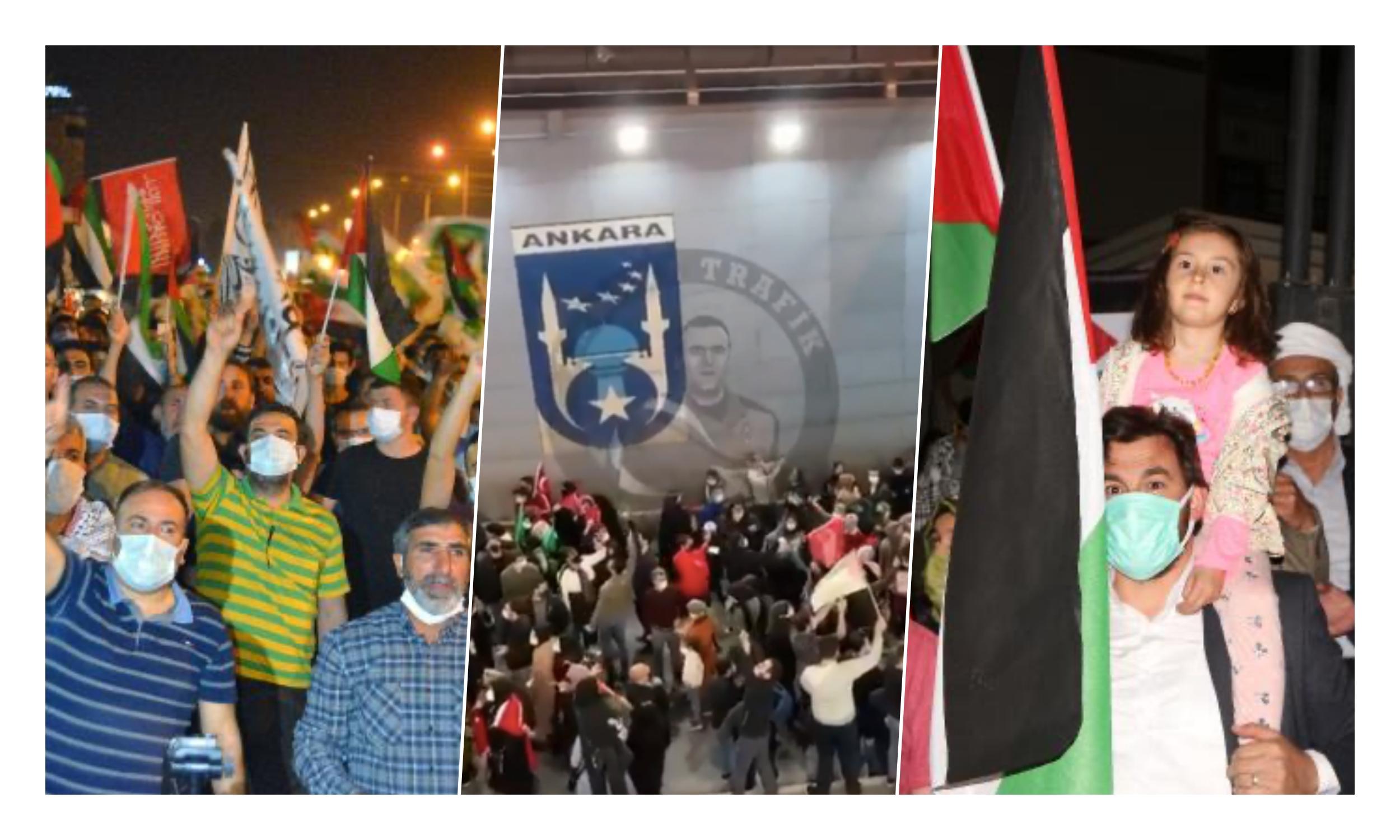 Bazıları Yine Yasaklardan Üstün: Korona Önlemlerini Hiçe Sayan Kalabalık Gruplar İsrail Protestosu Düzenledi