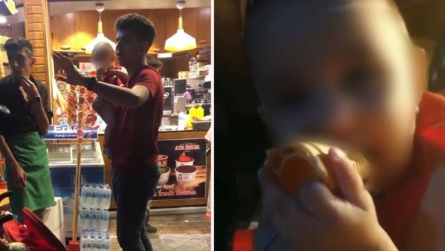 Bebeğini Dondurmacıda Unutan Anne Yarım Saat Sonra Aramaya Geldi