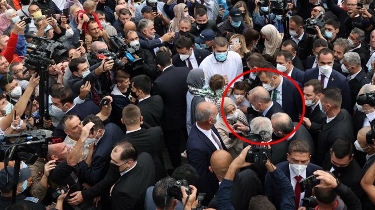 Bosna'ya giden Cumhurbaşkanı Erdoğan'a vatandaşlardan büyük ilgi