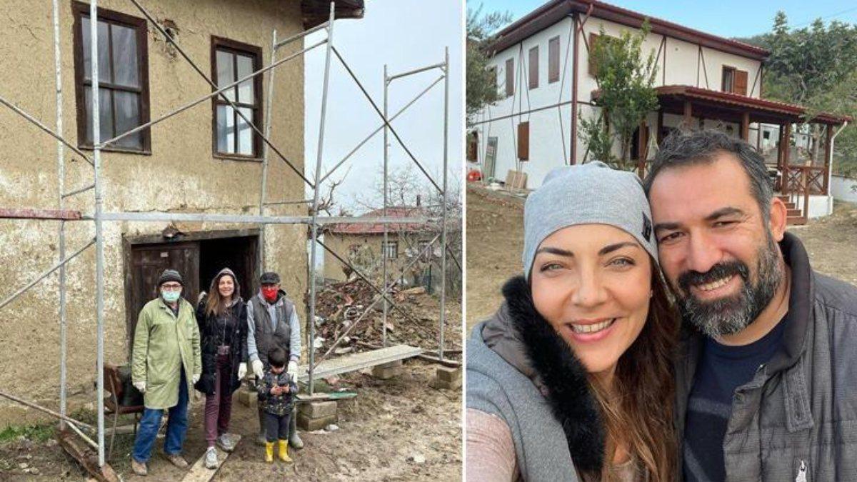 Burcu Kara köy evini yeniledi