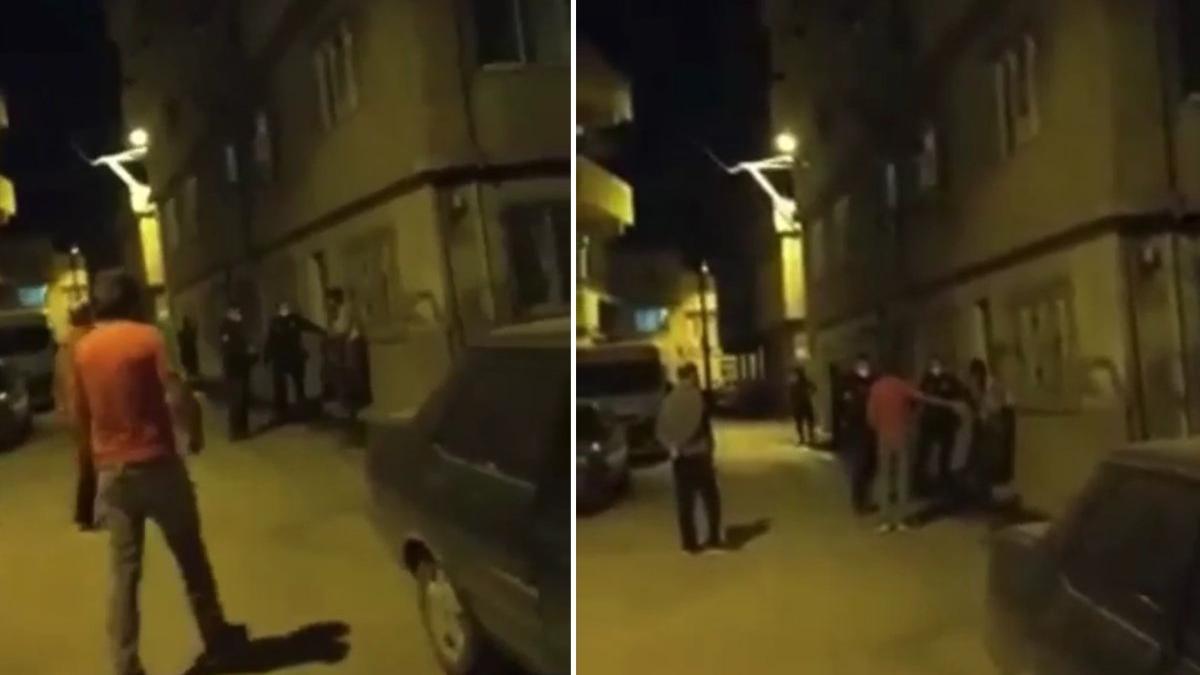 Bursa'da da Bekçi Şiddeti Kamerada: Kimlik Tartışması Fiziksel Şiddete Dönüştü, Vatandaşlar Tepki Gösterdi