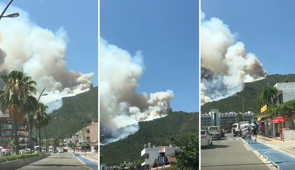 Ciğerlerimiz Yanıyor: Marmaris'te Ormanlık Alanda Yangın Çıktı