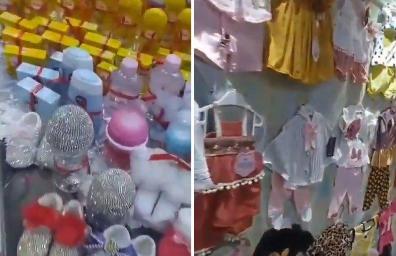 Çocuğa Dükkan mı Açtınız? Doğacak Çocuk İçin Alışveriş Yapan Ailenin Dikkat Çeken Görüntüleri