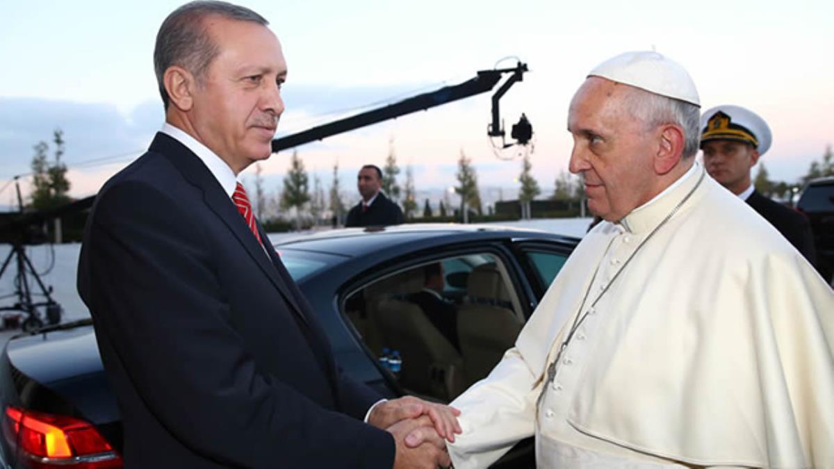 Cumhurbaşkanı Erdoğan, Papa ile görüştü: İsrail'e dur deyin