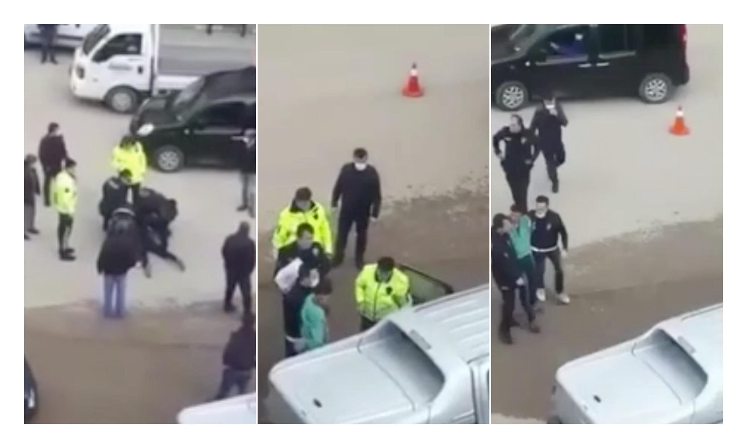 Darp Raporu Aşıp Şikayetçi Oldu! Araç Kullanırken Telefonla Konuşan Adamla Polis Arasında Arbede Çıktı