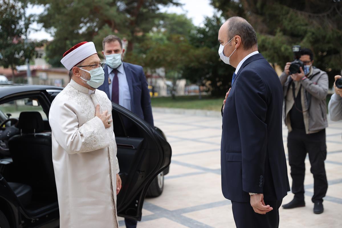 Diyanet İşleri Başkanı Erbaş, Edirne Valisi Canalp'ı ziyaret etti