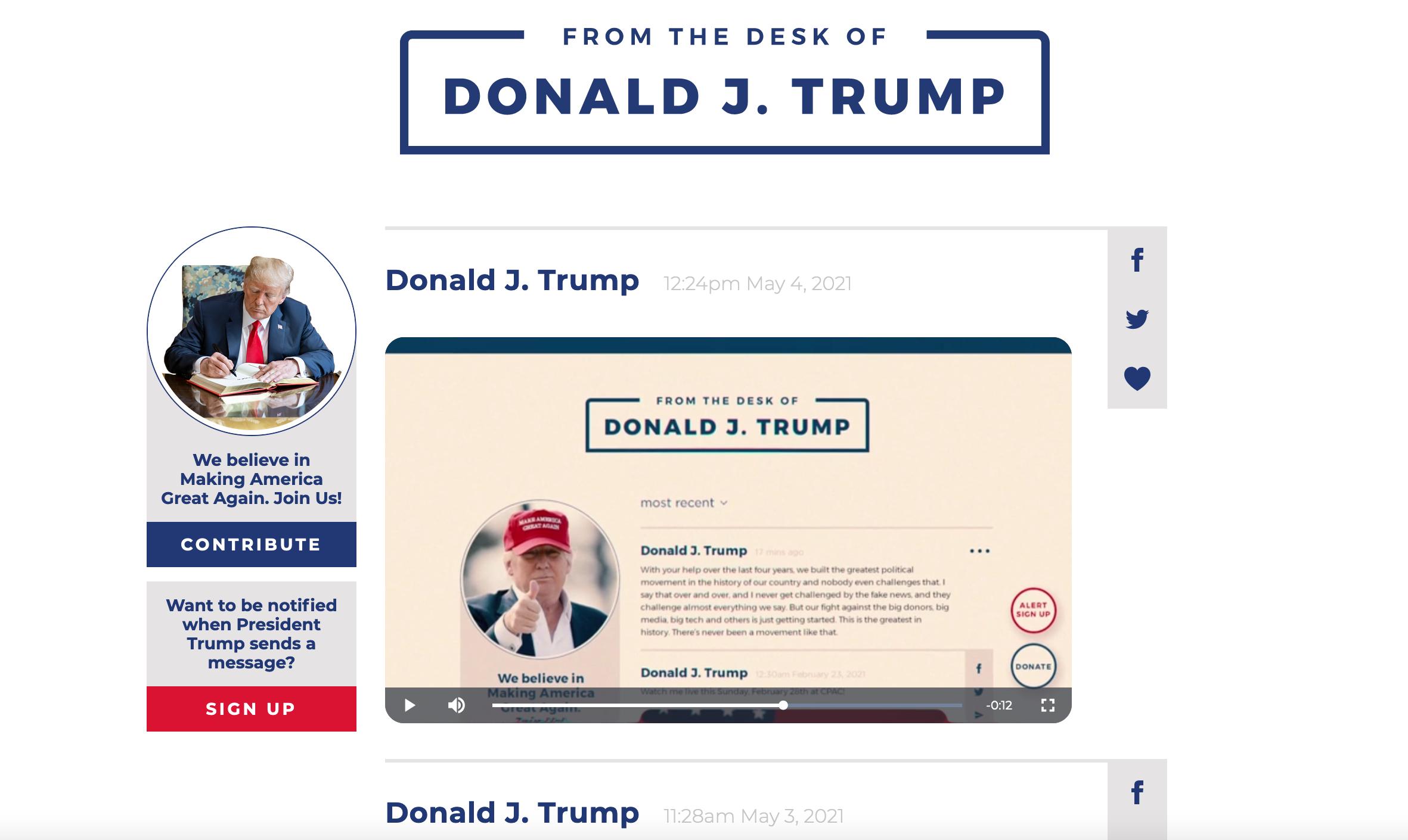 Donald Trump, Kendi Sosyal Medya Benzeri İletişim Ağını Kurdu